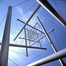 Nice view of a tensegrity structure...