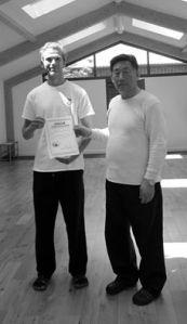 Receiving my certification Laojia and Xinjia Yilu & Erlu